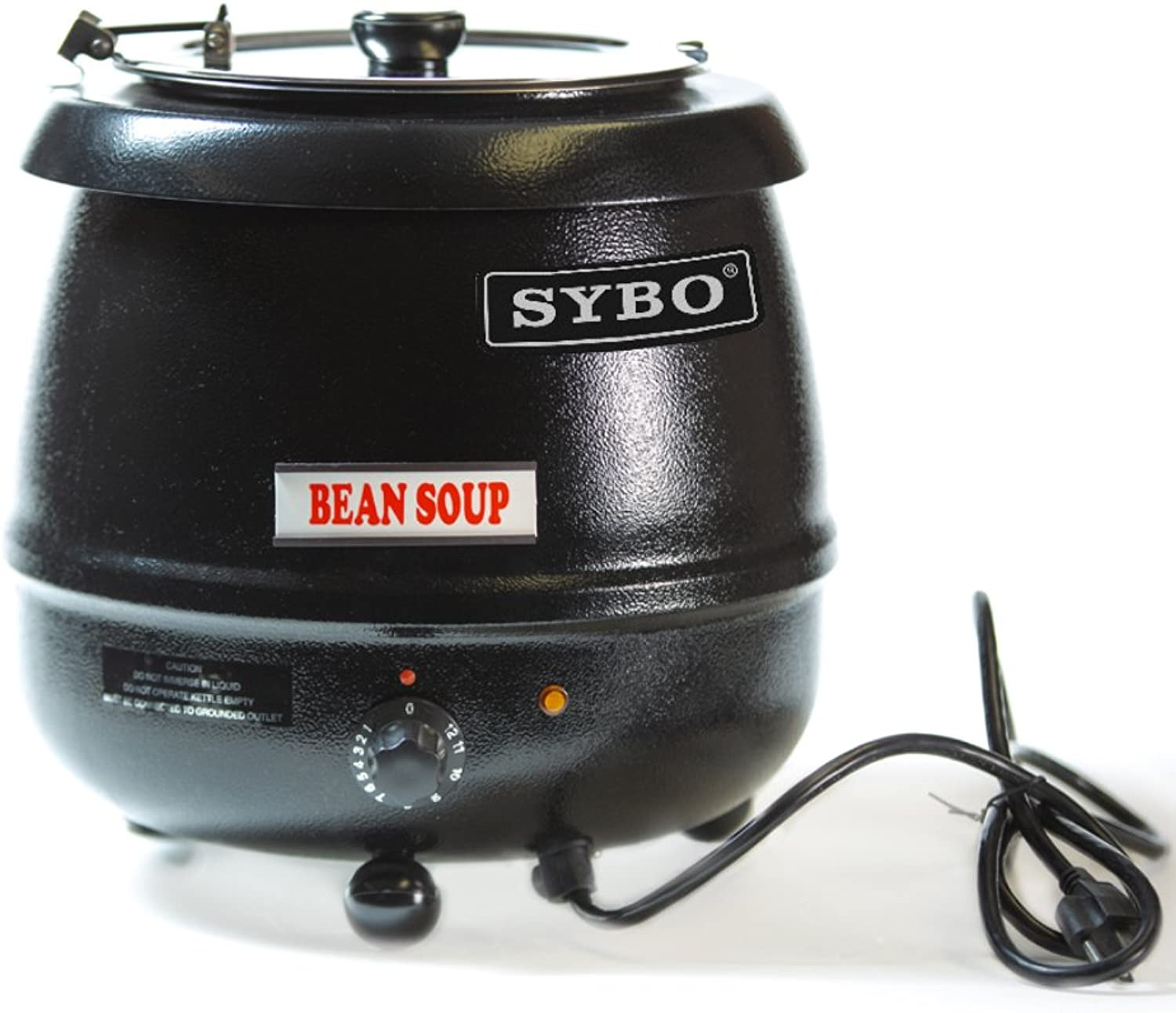 SYBO SB6000 SB-6000 Soup Kettle, 10.5 Quarts, Black and Sliver