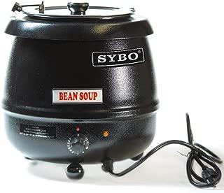 SYBO SB6000 SB-6000 Soup Kettle, 10.5 Quarts, Black and Sliver