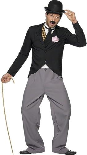 NET TOYS Costume de Charlie années 20 années 30 star de cinéma noir Taille L 52 54 comique déguiseHommest de cFaiblen costume de star tenue déguiseHommest pour homme voiturenaval