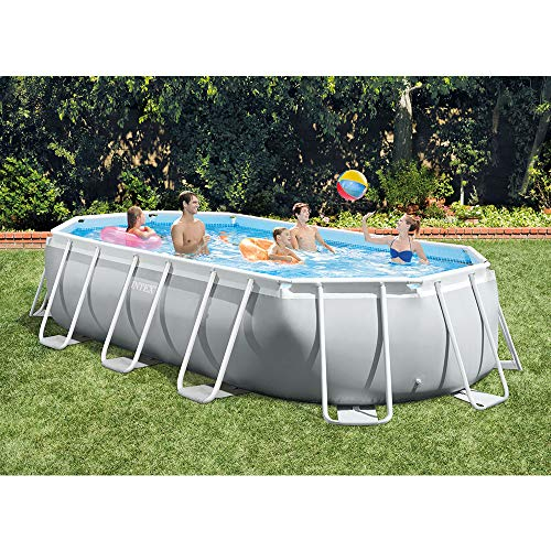 Intex 16.5ft x 9ft 48in Prism Frame Above Ground Swimming Pool Pump Set (2 Pack)
