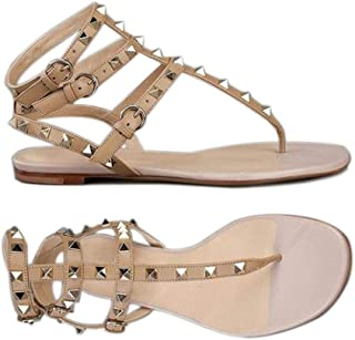 JF Crystal Rhinestone Gladiator Sandals for Women (Silver Color)