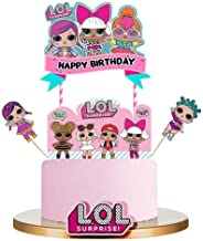 LOL Cake Topper, Happy Birthday Cake Topper, Pink Cake Decorations for Baby Theme Party - 1Set