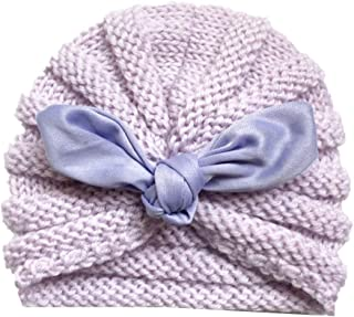 Biuuu ウールハットベビービーニーキャップニットかぎ針編みファッションウサギの耳弾性ユニバーサルボーイズ女の子暖かい冬ウールソフトインド子供子供の写真