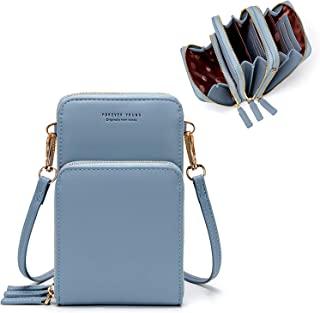 Small Leather Shoulder Bag, Crossbody Bag CellPhone Wallet Purse Lightweight Crossbody Handbags for Women