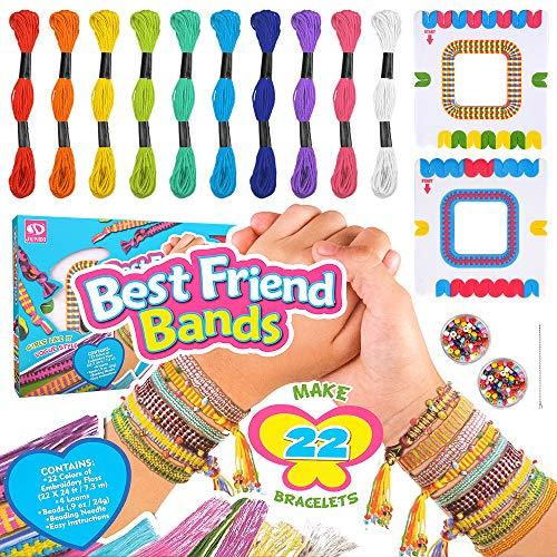 Friendship Bracelet Kit for Girls Gift, Birthday Gifts for Girls Age 7 8 9 10 Kids Bracelets Bead Kit Craft Toy Gift for 6 7 8 Year Olds Girl Kid DIY Jewellery Making Kit for Girls 7-12 Year Old Teen