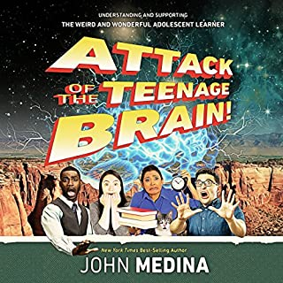 Attack of the Teenage Brain audiobook cover art