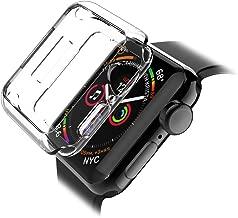 L&K LK Cover per Apple Watch 44mm Series 4 / Series 5 Custodia, Case in Morbido Silicone di Gel AntiGraffio in TPU Ultra [Slim Thin] Protettiva - Trasparente