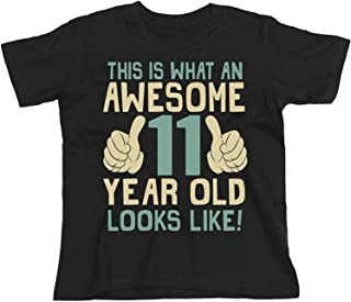 11th Birthday Gift - This is What an Awesome 11 Year Old Looks Like - Boys Girls Kids Organic T-Shirt