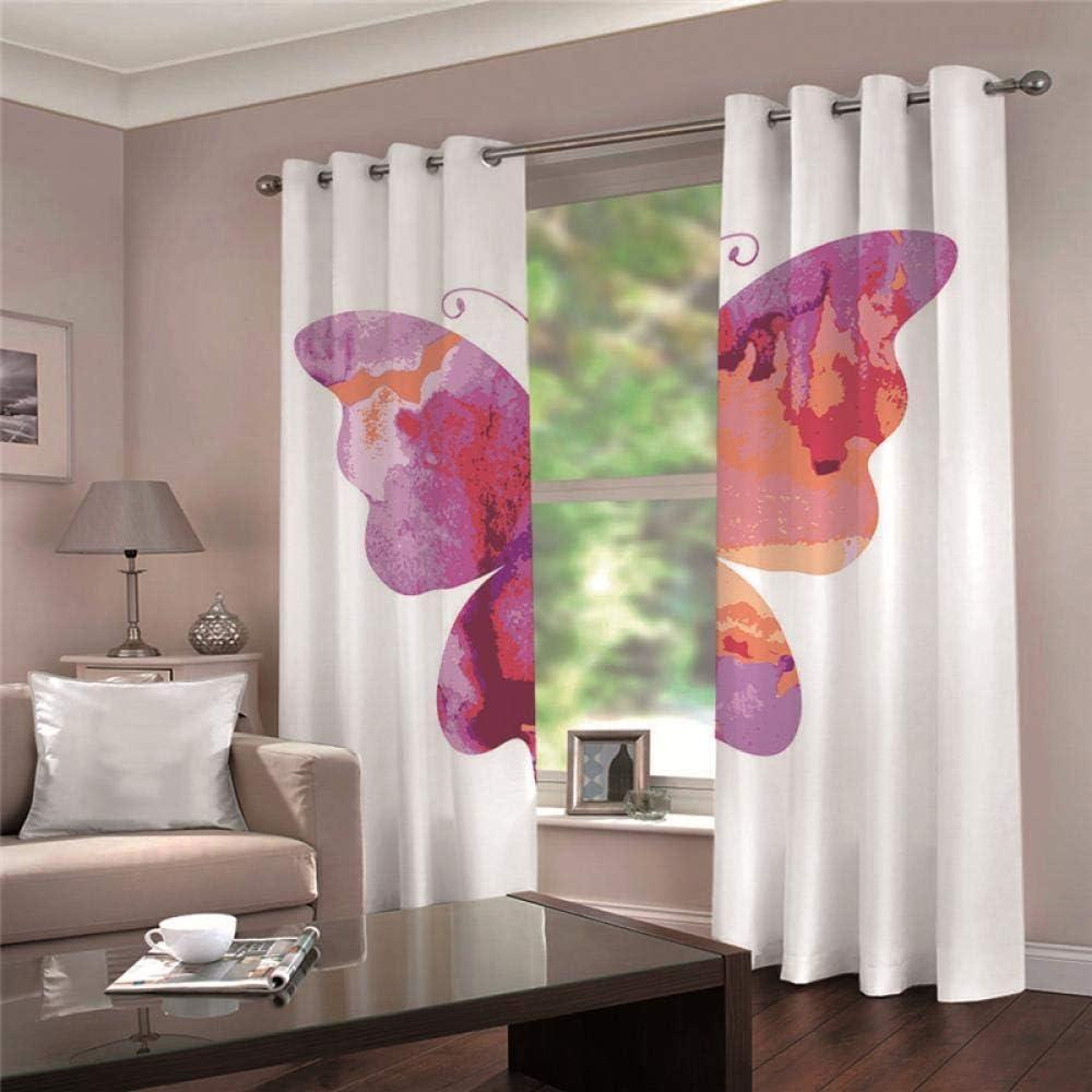 ZCLCHQ 3D Curtain for 2021 model Bedroom Curt Max 55% OFF Darkening PinkButterfly Room
