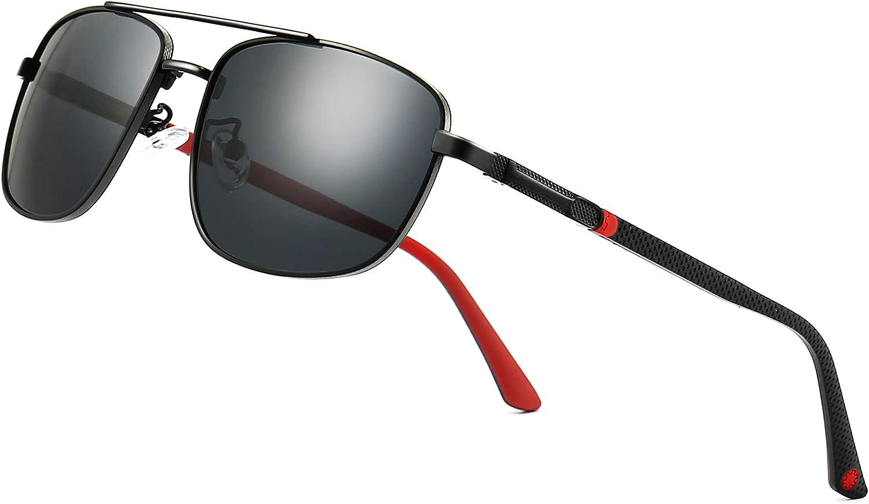 SUNGAIT Lightweight Store Rectangular Polarized Sunglasses Super intense SALE for Men Dri