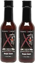 Elijah's Xtreme Carolina Reaper Hot Pepper Sauce with Sweet Black Cherries, Cranberries and Kentucky Bourbon (5 oz) (2-Pack)