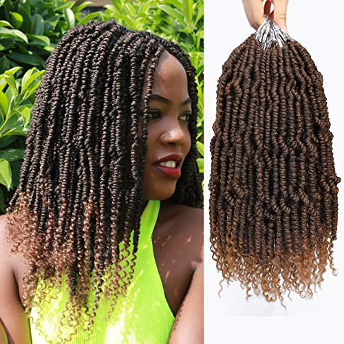 Bomb Twist Braiding Crochet Hair Pre Looped Synthetic Hair Extension