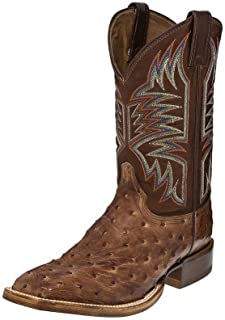 Justin Mens Exotic CPX Square Toe Tan Boots