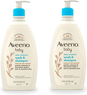 Aveeno Baby Baby Wash & Shampoo - 18 oz - 2 pk