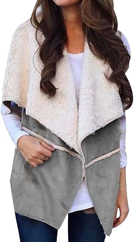 Women Trendy Coat Fashion Brand Cheap Sale Venue Solid Jacket Color Sleeveless Max 88% OFF La Plush