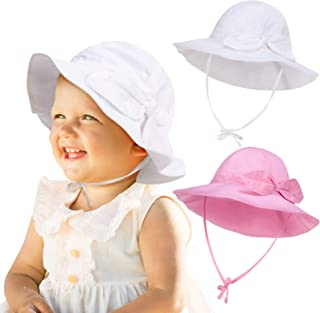 2 Pieces Baby Girl Sun Hat UV Protection Summer Hat