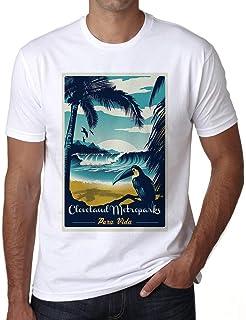 Ultrabasic® Men's Graphic T-Shirt Pura Vida Beach Name Vintage Cleveland Metroparks