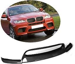 MCARCAR KIT For BMW X6M 2010-2014 Factory Customized Carbon Fiber Top Fit Front Bumper Lip Chin Spoiler (Straight Patterns Carbon Fiber)