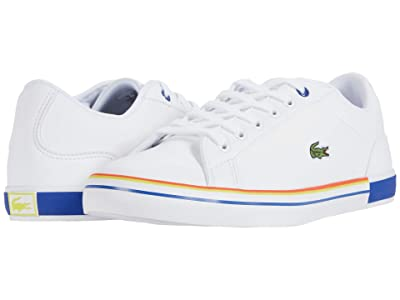 Lacoste Kids Lerond 0320 1 CUJ (Little Kid/Big Kid) (White/Dark Blue) Kid