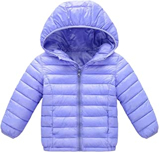 Macondoo Big Boys and Girls Down Jacket Warm Winter Quilted Hooded Parka Coat
