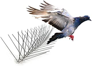 Bird-X Extra Wide 8-inch Stainless Steel Bird Spikes - Metal Roof Guard, Pigeon and Bat Deterrent, Animal and Pest Control...