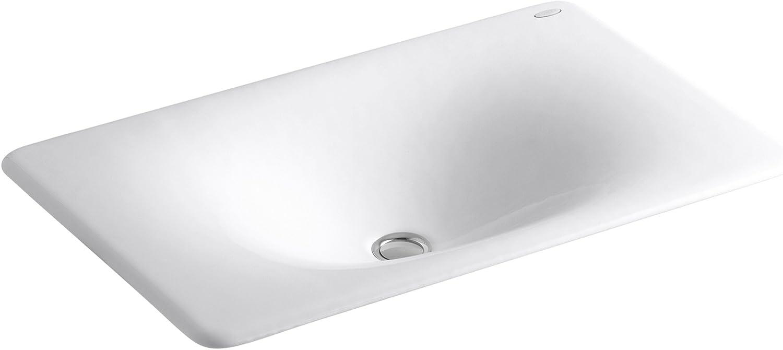 Kohler K 2826 0 Iron Tones Cast Iron Bathroom Sink White Vessel Sinks Amazon Com