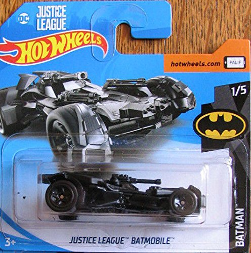 Hot Wheels 2018 Batman DC Comics Justice League Batmobile Black 1/365 (Short Card)