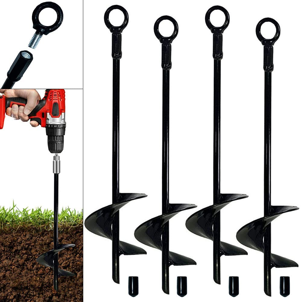 Ground Long-awaited Anchor 18 inch Spiral Blade 4 Kit Max 84% OFF Pack Heavy Earth