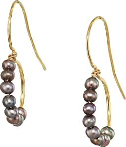 Taupe Freshwater Pearl Drop Earrings