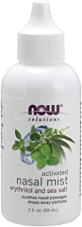 NOW Solutions, Activated Nasal Mist, Soothes Nasal Passages with Erythritol and Sea Salt, 2-Ounce