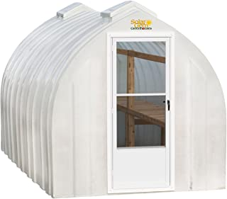 Solar Gem 8' x 12' Medium, Fully Assembled, Heavy Duty, Walk-In Fiberglass Greenhouse