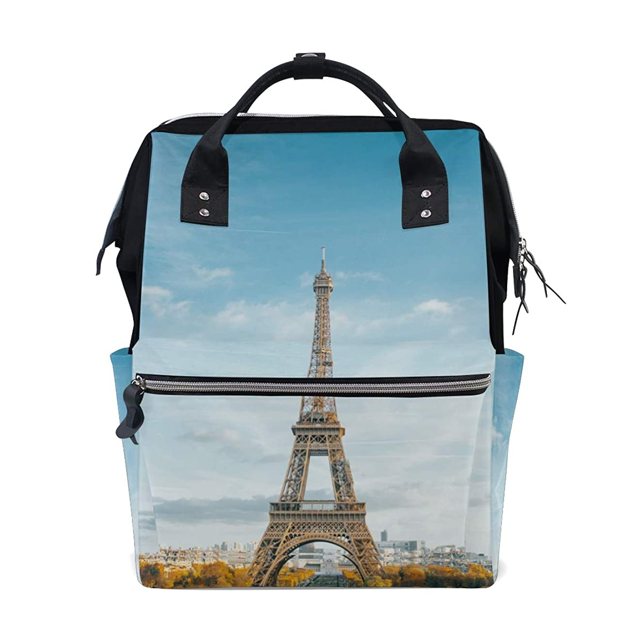 Backpack Eiffel Tower School Rucksack Diaper Bags Travel Shoulder Large Capacity Bookbag for Women Men