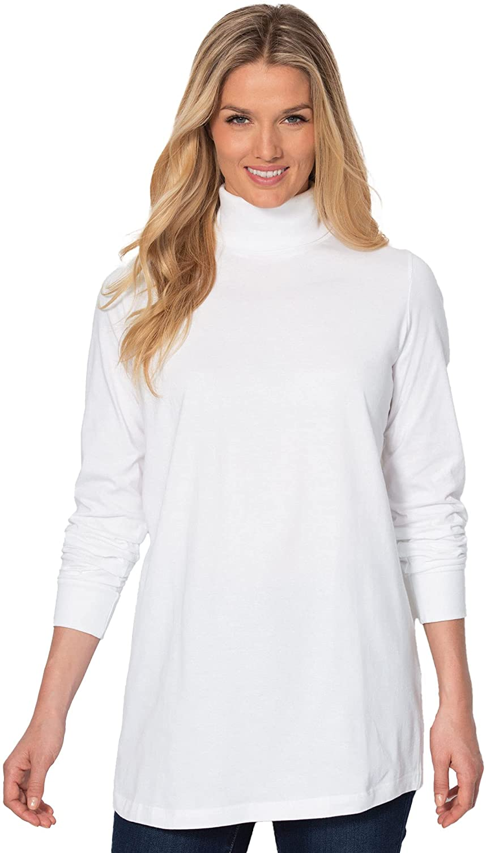 Woman Within Women's Plus Size Perfect Long-Sleeve Turtleneck Tee Shirt