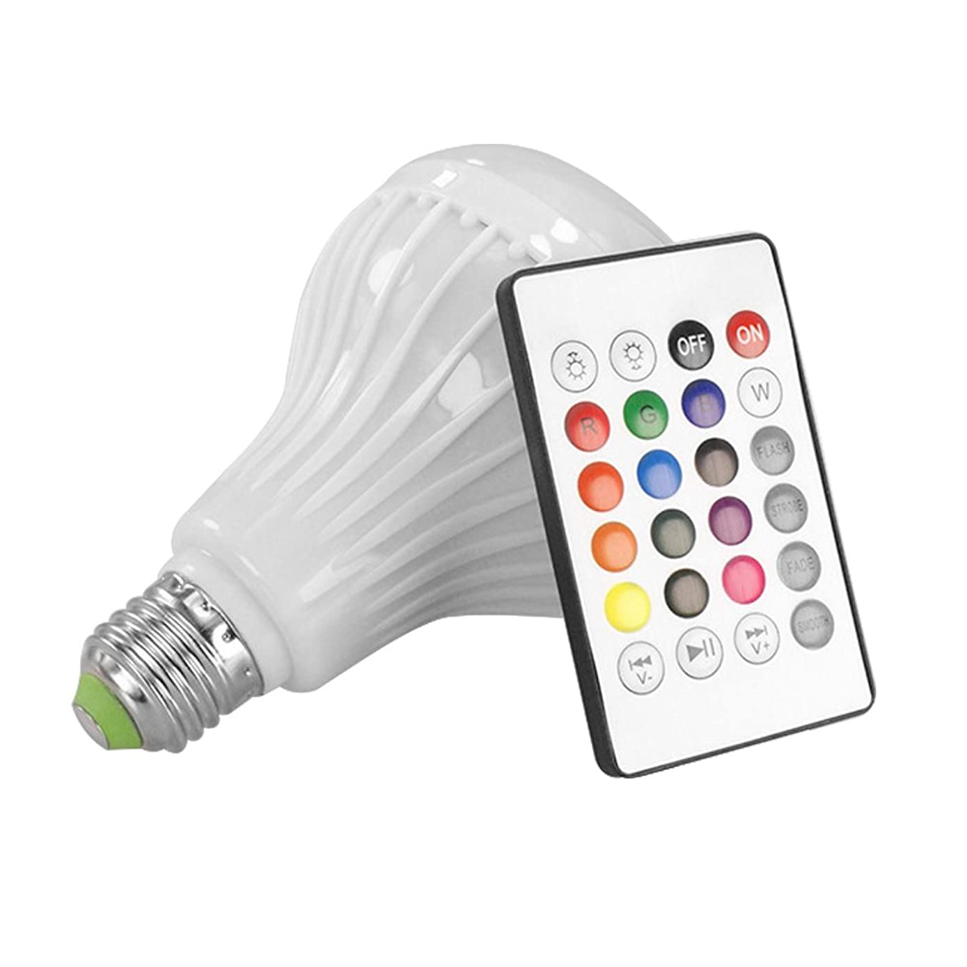 LED Blub Light Bluetooth Speaker ALLOMN LED Music Bulb E27 12W LED RGB Smart Bulb with Remote Control