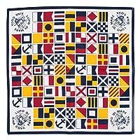 (シナコバ) SINA COVA バンダナ スカーフ ハンカチ 綿 マリングッズ マリン小物 マリン雑貨 (オフホワイト) フリーサイズ 17176200