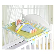 Universal Baby Cot Top Changer 70 X 45 CM CM Portable Changing Table (Yellow)