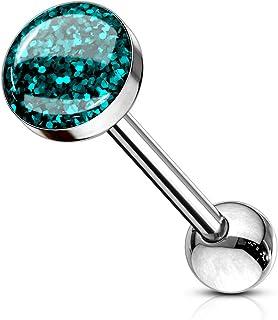 Paula & Fritz®, piercing per lingua in acciaio chirurgico 316L, inossidabile, con sfera