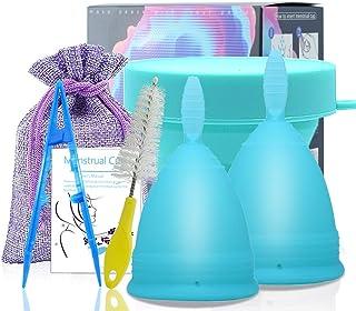 comprar comparacion SPEQUIX 1 PCS Tamaño S Copa menstrual y 1 PCS Juego de taza esterilizante para mujeres Copas de higiene menstrual con copa...