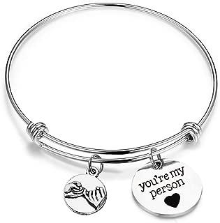You Will Always Be My Person Bangle Bracelet BFF Bracelet
