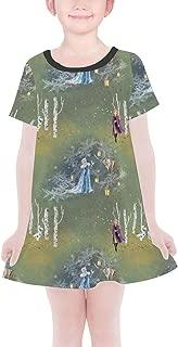 Rainbow Rules Enchanted Forest Frozen 2 Disney Inspired Girls T-Shirt Dress
