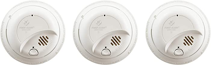 First Alert BRK 9120B-3 Hardwired Smoke Detector with Backup Battery, 3-Pack