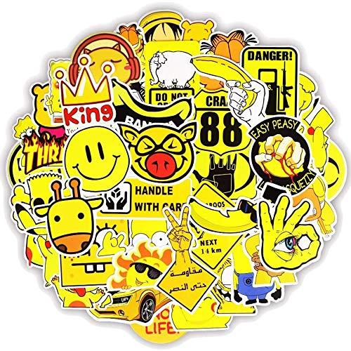 greestick Stickerbomb gelb Aufkleber 50 Stück Sticker
