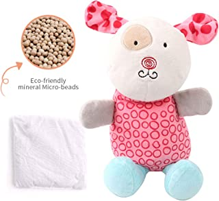 Microwaveable Plush Pal, Warm Pals Heated Plush Animal Toy with Eco-Friendly Micro-Beads Stuffed Hot Pad for Children's Soothing Warmth & Comfort(Female Dog)