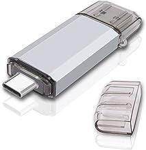 RAOYI 128GB USB 3.0 Type C Dual OTG Flash Drive USB C Thumb Drive Memory Stick for USB-C Smartphones, New MacBook & Tablet...