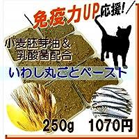 猫 まるごと煮 国産イワシペースト 小麦胚芽油入り サプリメント・小分けトレー 250g 手作りキャットフード ごはんの材料 トッピング