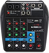 Sound Mixing Console with Bluetooth Record 4 Channels Audio Mixer for Stage Performance Family K Songs