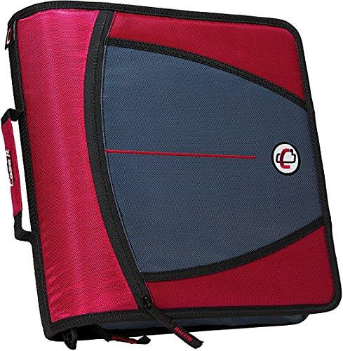 Case-it Mighty Zip Tab 3-Inch Zipper Binder, Red, D-146-RED
