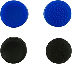 YoK PlayStation 4 Pack of 4 Pro Grips Compatible With PS4 DualShock Controllers - Blue and Black