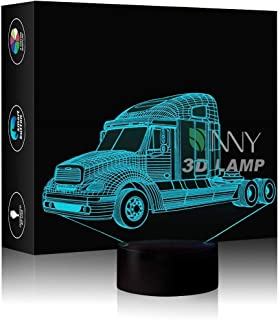 3D Night Light Optical Illusion Lamp Truck Desk Lamp Touch Switch Desk Night Lights Best Gift Toys for Home Decoration