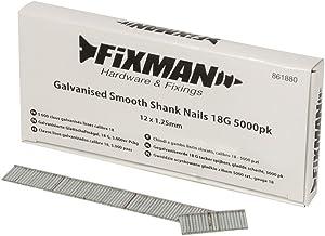 Fixman 861880 18ga gegalvaniseerde gladde schacht nagels 12 x 1,25 mm verpakking van 5000